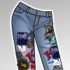 Pop Pattern Jeans Anime